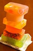 Stack of handmade soaps — Stock Photo
