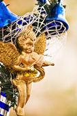 Christmas golden decoration — Stock Photo