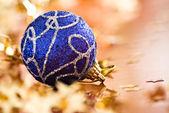 Vánoční modré koule — Stock fotografie