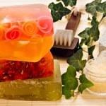 Handmade soaps and bath items — Stock Photo #10780773