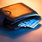 Money in wallet — Stock Photo