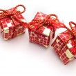 Stock Photo: Xmas presents on white