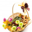 Autumn flower arrangement - Stock Photo