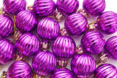 Purple Christmas balls — Stock Photo
