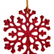 Red snowflake decoration — Photo