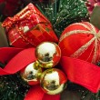 Red christmas decorations — Stock Photo #11405450