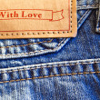 Stock Photo: Blue jeans closeup