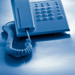Stock Photo: Telephone blue toned