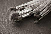 Old paintbrushes — Stock Photo