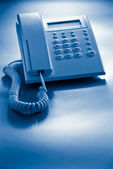 Telephone blue toned — Stock Photo