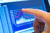 Business chart on tablet — Stock Photo