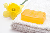 Soap and flower — Stock Photo