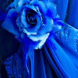 Detail of blue dress — Stock Photo