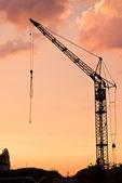 Crane at dusk — Zdjęcie stockowe