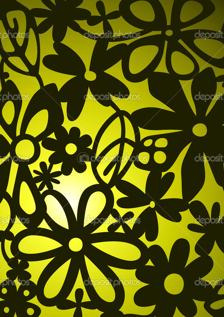 The pattern of a visionary flower  Stock Photo #10861806