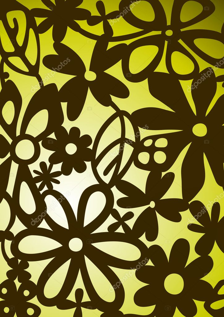 The pattern of a visionary flower  Stock Photo #10861949