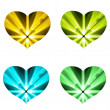Four hearts — Stock Photo