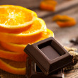 Stock Photo: Chocolate with Orange