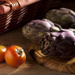 Artichokes with Tomatoes - Stock Photo