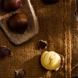 Raw Chestnuts — Stock Photo