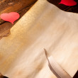 Love Letter with Hearts — Stock Photo