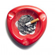 Red Ashtray - Stock Photo