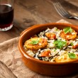 Stock Photo: Rice with Potatoes and Mussels