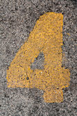 Parking Number 4 — Stock Photo