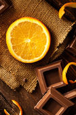 Orange and Chocolate — Stock Photo