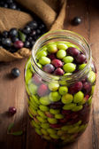 Olives in Brine — Stock Photo