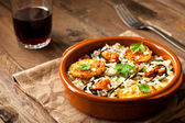 Rice with Potatoes and Mussels — Stock Photo