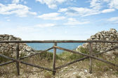 Wooden Fence on the Sea — Stock fotografie