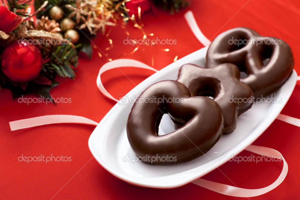Lebkuchen, a Traditional German Christmas Cake — Stockfoto #11578842