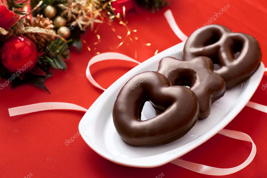 Lebkuchen, a Traditional German Christmas Cake — Stock Photo #11578842