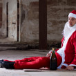 Homeless Santa — Stock Photo