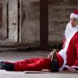 Homeless Santa — Stock Photo