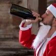 Alcoholic Santa — Stock Photo #11582422