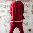 Santa Urinating — Stock Photo