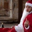 Santa Showing Middle Finger — Stock Photo #11582427