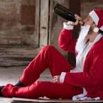 Alcoholic Santa — Stock Photo