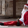 Drunken Santa — Stock Photo
