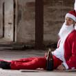 Drunken Santa — Stock Photo