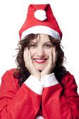 Curious Santa Woman — Stock Photo