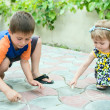 Stock Photo: Chalk drawing