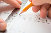 Architect in process — Stock Photo