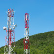 Royalty-Free Stock Photo: Broadcasting towers In mountains