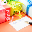 Stock Photo: Gift Boxes. Congratulating on birthday.