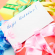 Stock Photo: Gift Boxes. Congratulating on a birthday.