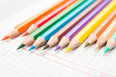 Pencils on a white background — Stock Photo