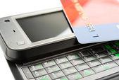мобильное банковское дело — Стоковое фото